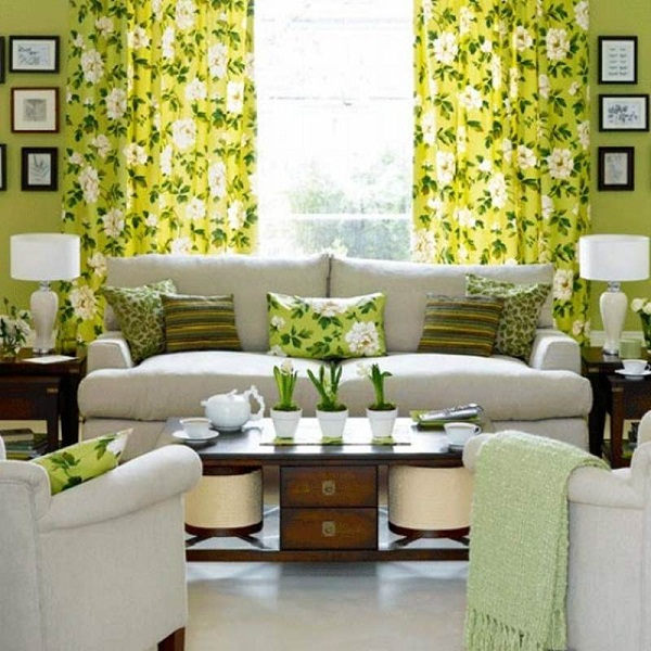 green-Beautiful-Living-room-With-Flower-Theme